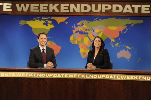 Seth Myers Cecily Strong Weekend Update