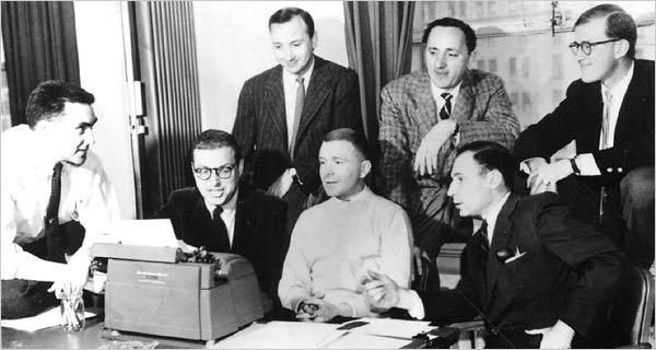 "Some of the legendary writers from ""Your Show of Show"" including Mel Brooks, Neil Simon, Michael Stewart, Mel Tolkin, Joseph Stein, Sheldon Keller and Larry Gelbart."