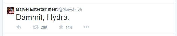 Marvel Dammit Hydra Tweet